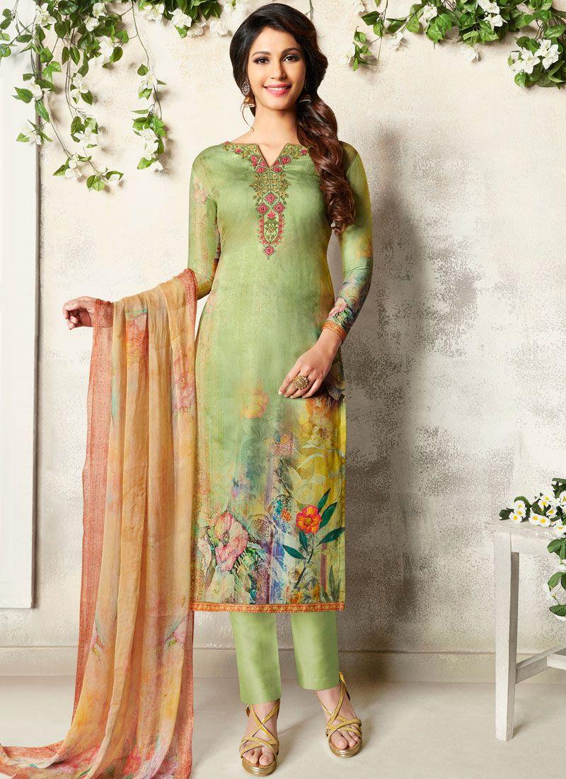 Abstract Print Multi Colour Churidar Designer Suit