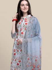 Abstract Print Multi Colour Cotton Designer Suit