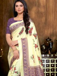 Abstract Print Multi Colour Printed Saree