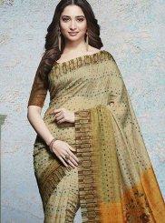 Abstract Print Multi Colour Tamannaah Bhatia Printed Saree