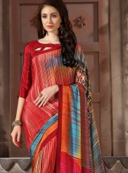 Abstract Print Party Casual Saree