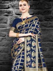 Abstract Print Traditional Saree