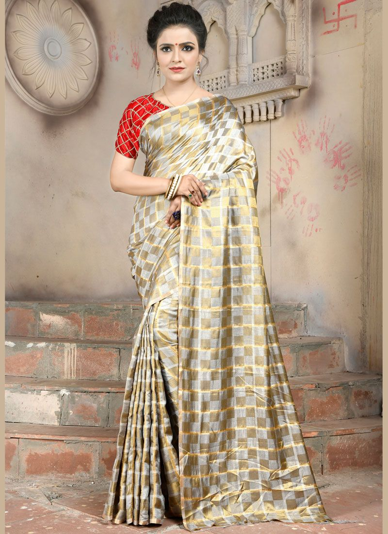 Abstract Print Trendy Saree