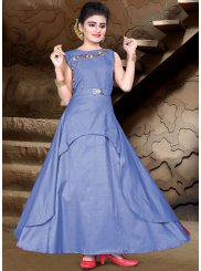 Amazing Blue Color Readymade Gown