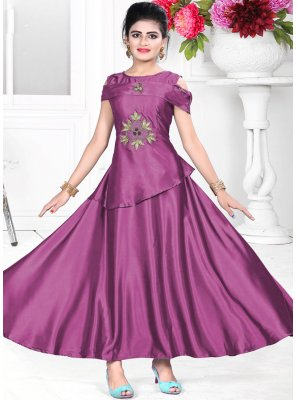 Amazing Purple Color Readymade Designer Gown