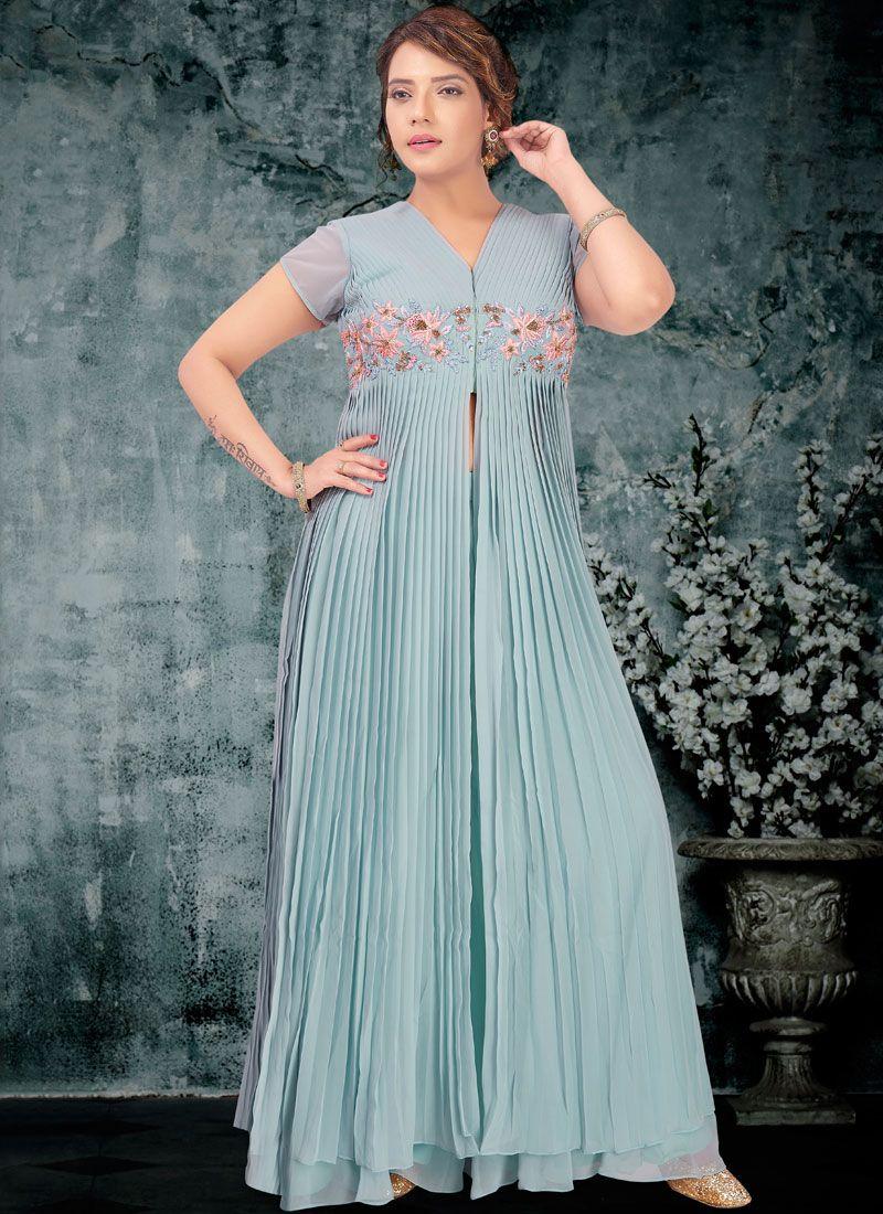 Aqua Blue Color Designer Lehenga Choli