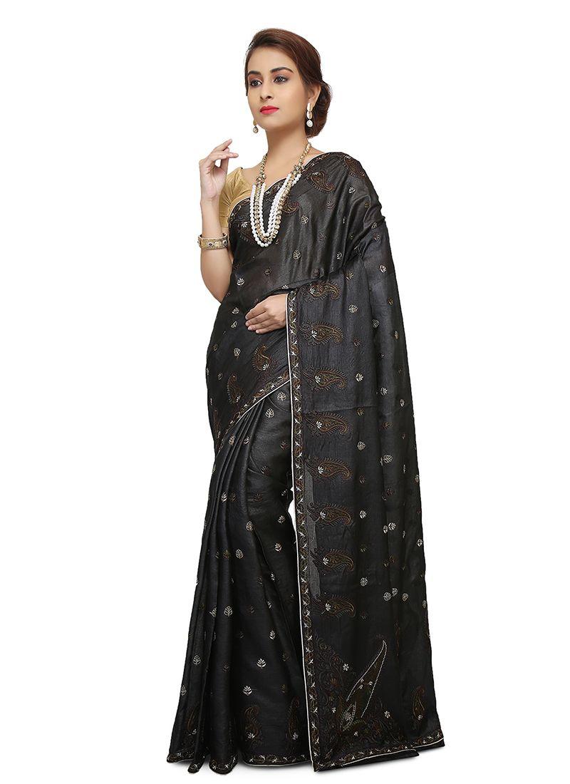 Art Banarasi Silk Designer Traditional Saree in Black