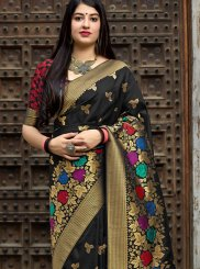 Art Banarasi Silk Designer Traditional Saree in Black