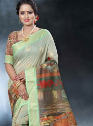 Art Banarasi Silk Multi Colour Classic Designer Saree