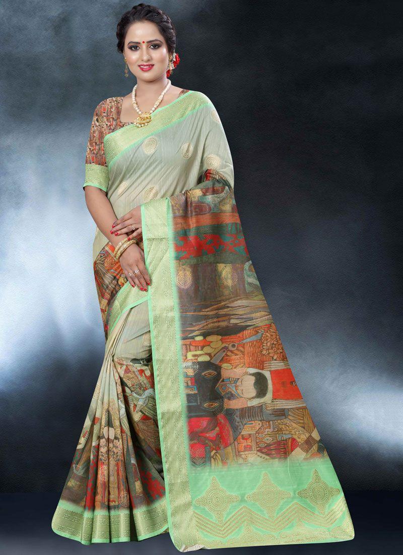 Art Banarasi Silk Multi Colour Classic Designer Saree