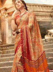 Art Silk Abstract Print Printed Saree