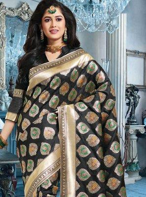 Art Silk Black Silk Saree