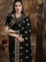 Art Silk Black Traditional Designer Saree