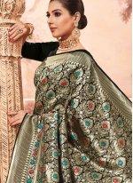 Art Silk Black Traditional Saree