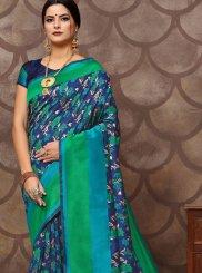 Art Silk Blue Weaving Trendy Saree
