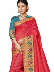 Art Silk Border Pink Traditional Saree