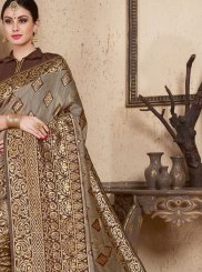 Art Silk Brown Weaving Traditional Saree