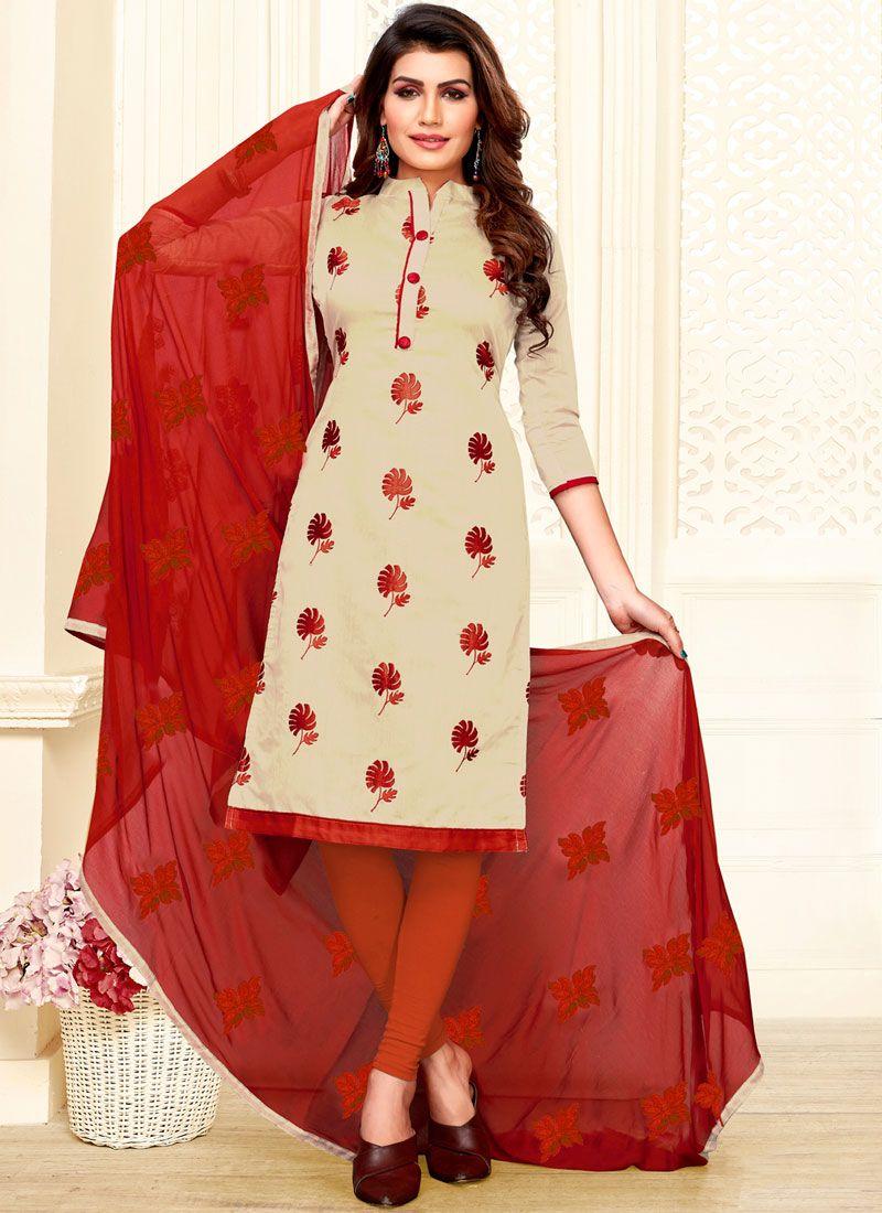 Art Silk Casual Churidar Salwar Suit