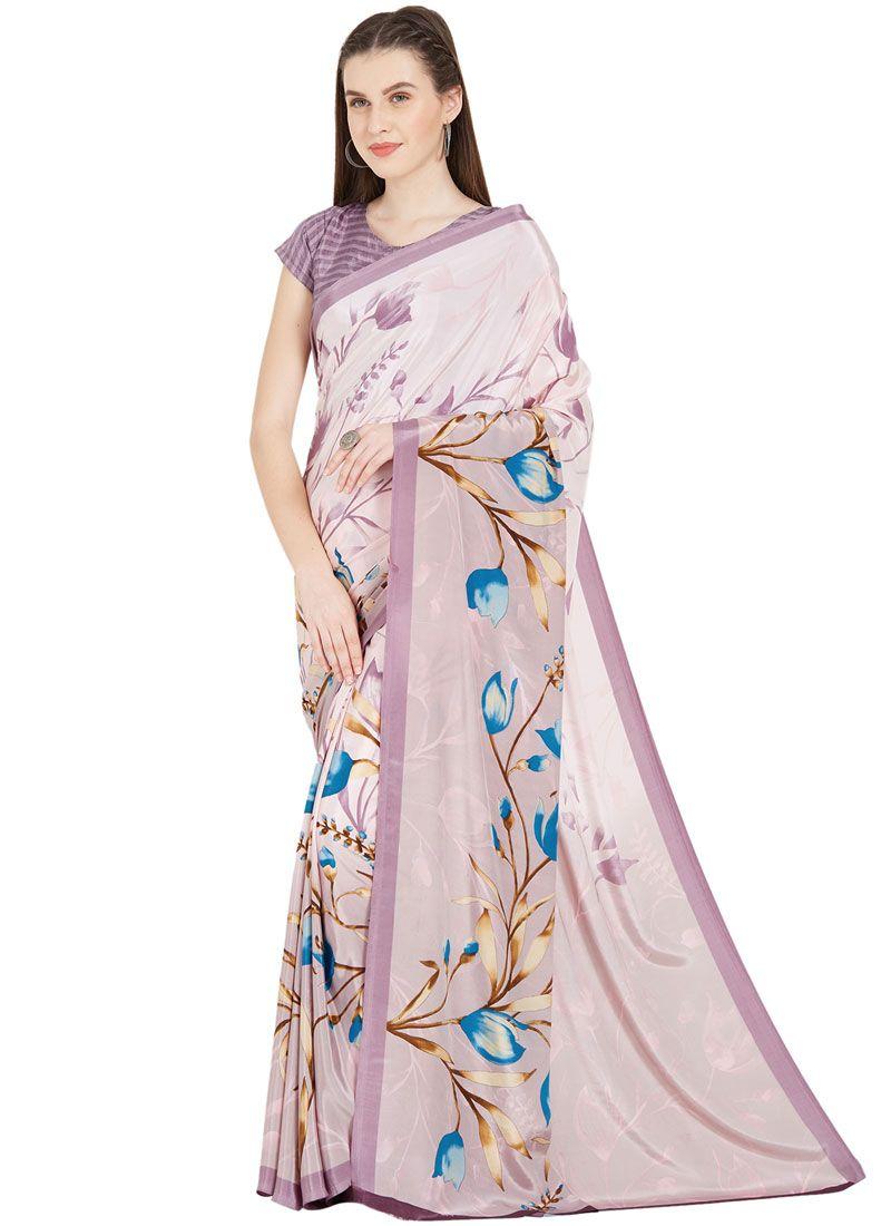 Art Silk Casual Saree in Multi Colour