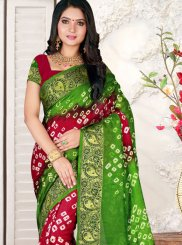 Art Silk Casual Saree in Multi Colour