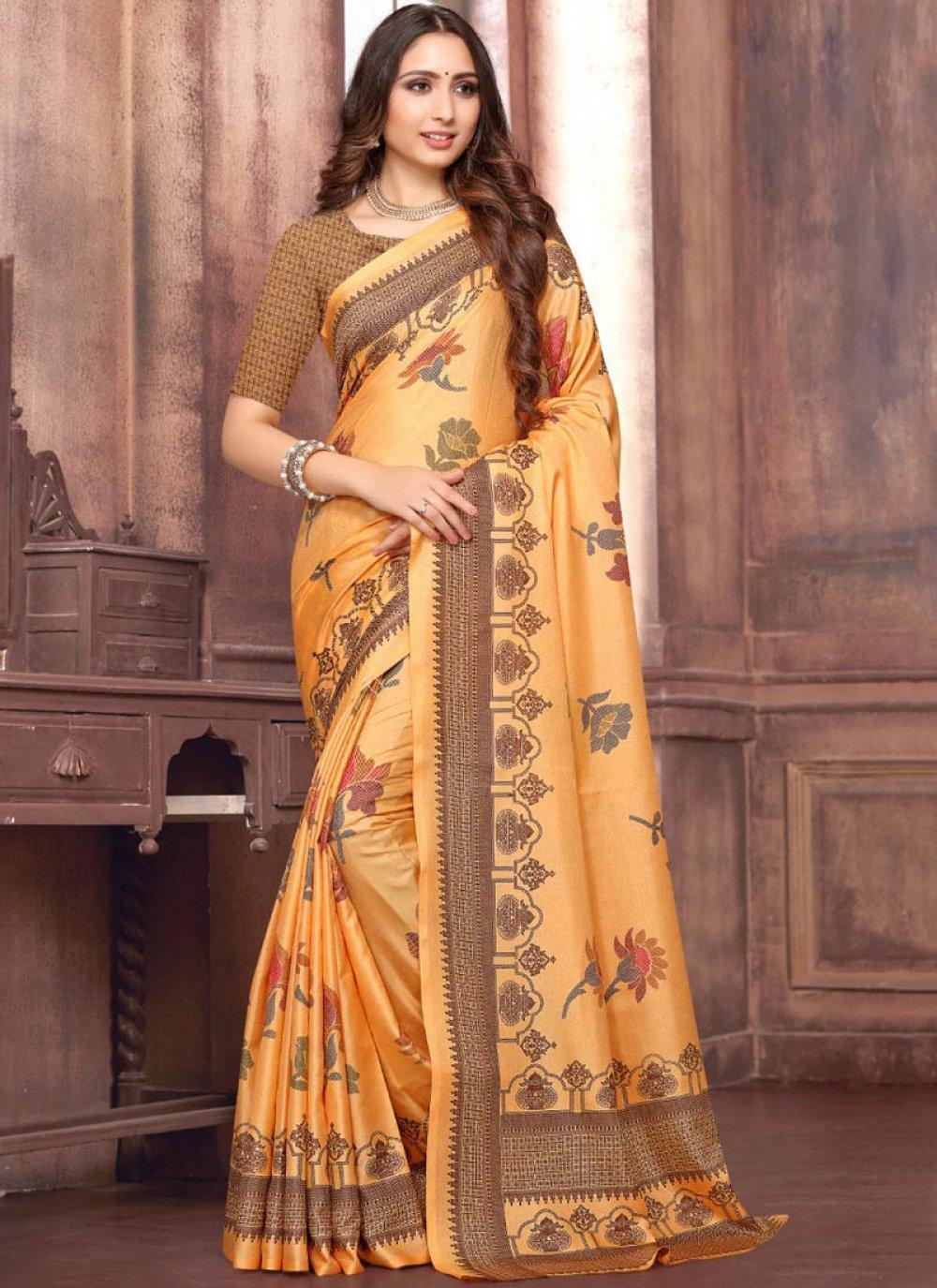 Art Silk Ceremonial Designer Traditional Saree