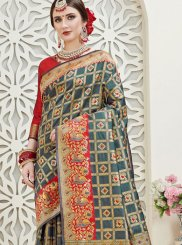 Art Silk Ceremonial Designer Traditional Saree