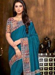 Art Silk Ceremonial Printed Saree