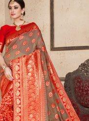 Art Silk Ceremonial Traditional Designer Saree
