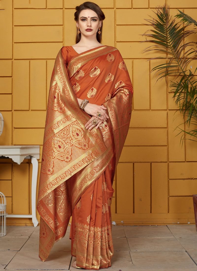 Art Silk Ceremonial Traditional Saree