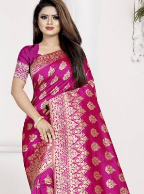 Art Silk Ceremonial Traditional Saree