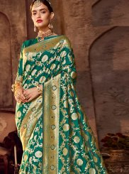 Art Silk Classic Designer Saree in Green