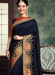 Art Silk Classic Saree in Blue