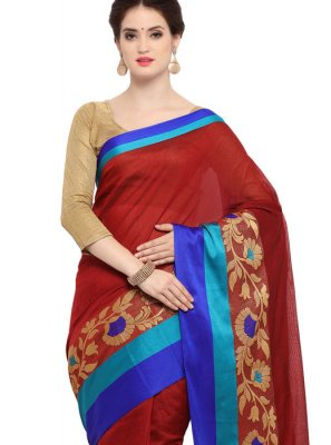 Art Silk Cotton Festival Trendy Saree