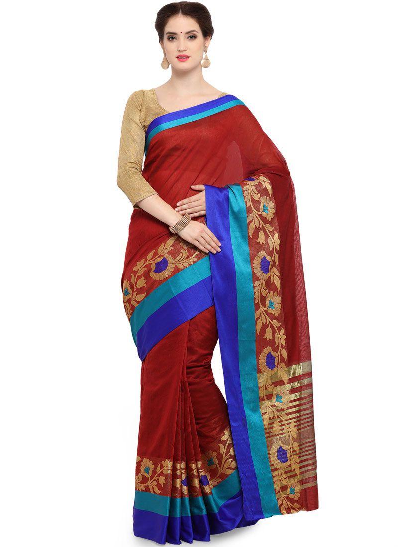 Art Silk Cotton Festival Trendy Saree