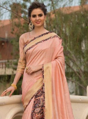 Art Silk Cotton Print Work Traditional Designer Saree