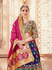 Art Silk Designer Lehenga Choli in Blue