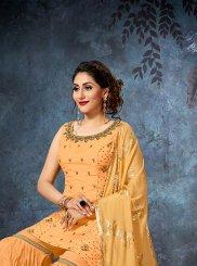 Art Silk Designer Palazzo Salwar Suit