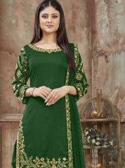 Art Silk Designer Patiala Salwar Kameez