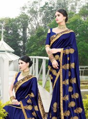 Art Silk Designer Traditional Saree in Blue