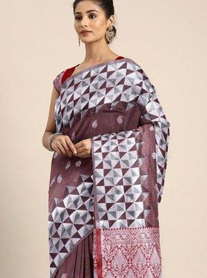 Art Silk Designer Traditional Saree in Multi Colour