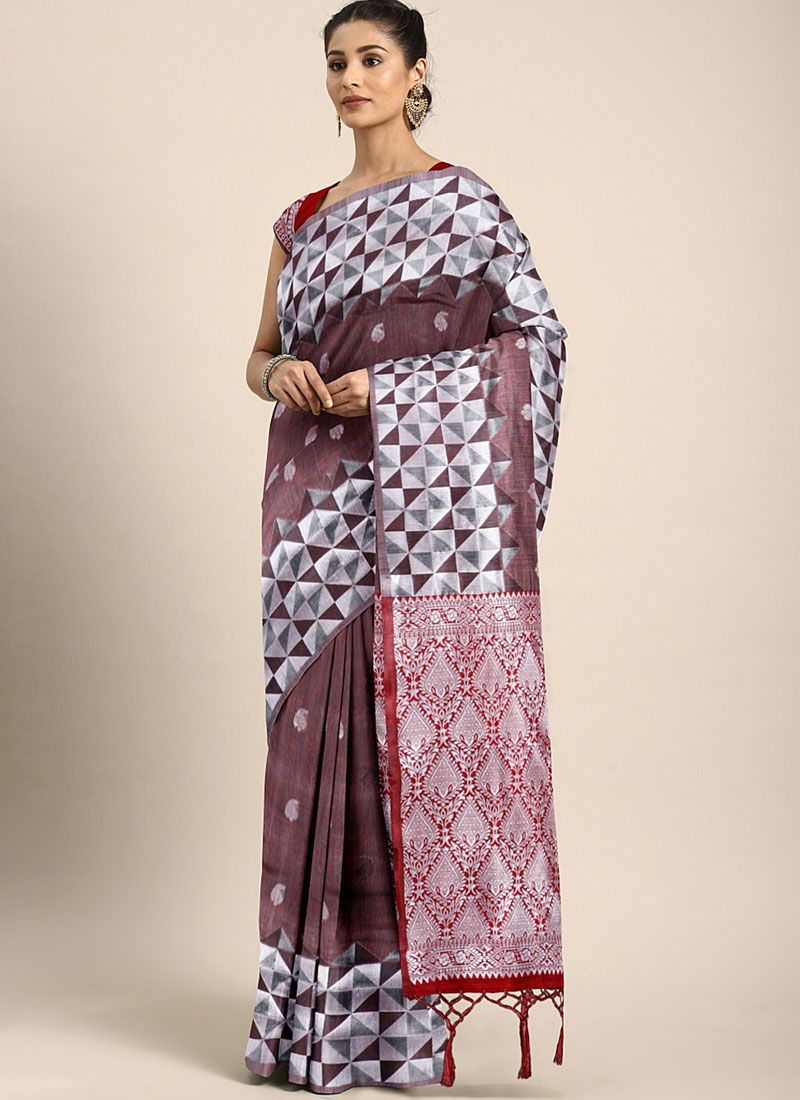 Art Silk Designer Traditional Saree in Multi Colour