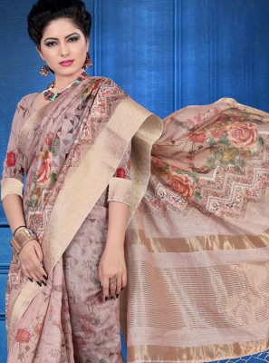 Art Silk Digital Print Multi Colour Printed Saree