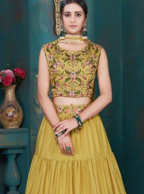 Art Silk Embroidered Designer Lehenga Choli