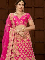 Art Silk Embroidered Lehenga Choli