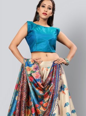 Art Silk Fancy Lehenga Choli in Multi Colour