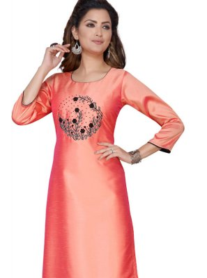 Art Silk Festival Party Wear Kurti