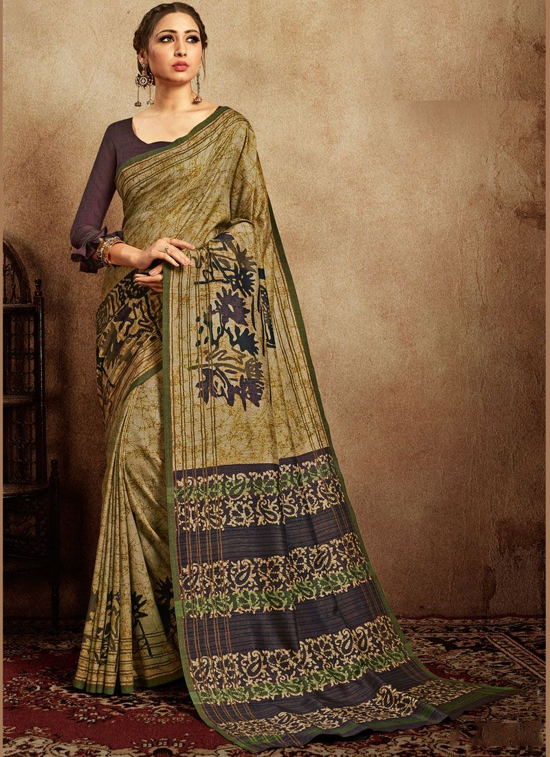 Art Silk Festival Printed Saree