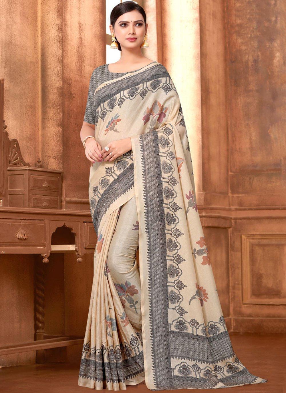 Art Silk Festival Printed Saree