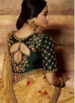 Art Silk Gold Traditional Designer Saree