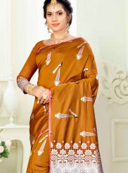 Art Silk Gold Traditional Saree